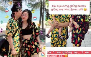 Vợ Hoài Lâm lần đầu lấp lửng khoe ảnh hai con gái